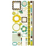 Crate Paper - Brook Collection - Cardstock Stickers - Journal