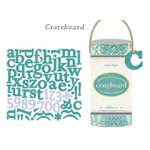 Crate Paper - Crateboard - Chipboard Alphabet, Numbers and Punctuation -  Samantha Collection - Wildflower, CLEARANCE