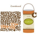 Crate Paper - Crateboard - Chipboard Alphabet, Numbers and Punctuation -  Crush Collection - Orange County, CLEARANCE