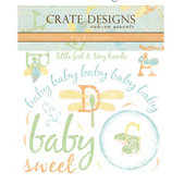 Crate Paper - Rub Ons - Crate Accents - Baby Bee Collection