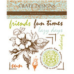 Crate Paper - Rub Ons - Crate Accents - Crush Collection, CLEARANCE