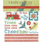 Crate Paper - Rub Ons - Crate Accents - Zoom Collection, CLEARANCE