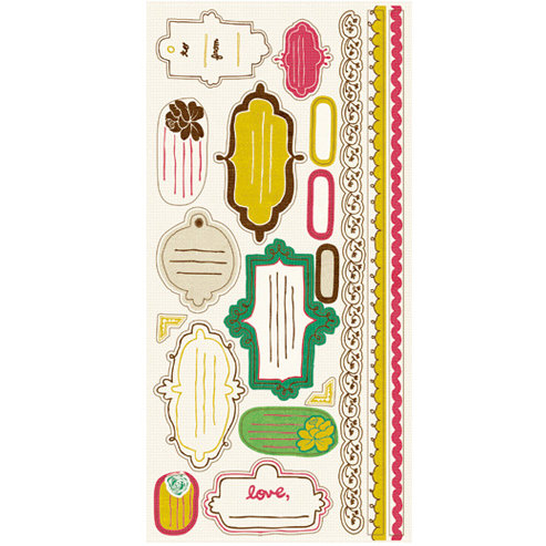Crate Paper - Cottage Collection - Cardstock Stickers - Journal, CLEARANCE