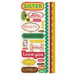 Crate Paper - Cottage Collection - Cardstock Stickers - Title, CLEARANCE