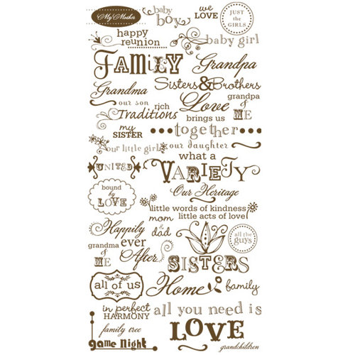 Crate Paper - Rub-On Transfers - Family