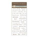 Crate Paper - Rub Ons - Crate Words - Descriptions