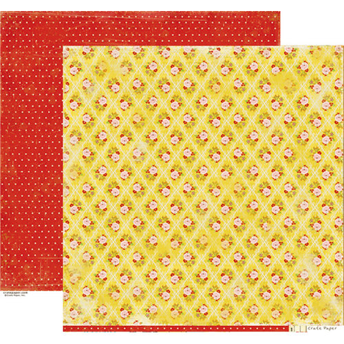 Crate Paper - Emma's Shoppe Collection - 12 x 12 Double Sided Paper - Dresses