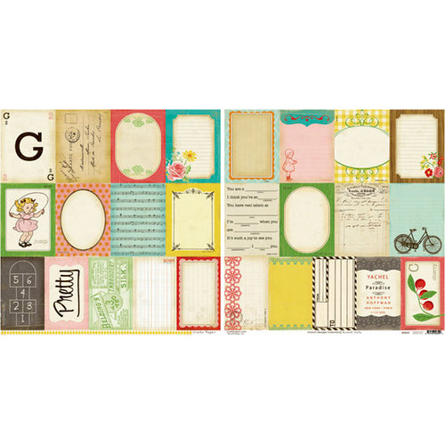Crate Paper - Emma's Shoppe Collection - 12 x 12 Double Sided Paper - Accent Cuts