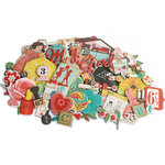 Crate Paper - Emma's Shoppe Collection - Chipboard Stickers - Accents