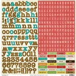 Crate Paper - Emma's Shoppe Collection - Cardstock Stickers - Alphabet and Labels