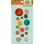 Crate Paper - Emma's Shoppe Collection - Eclectic Buttons, CLEARANCE