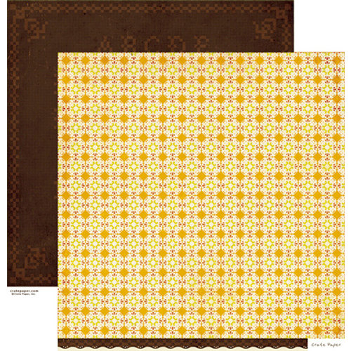 Crate Paper - Farmhouse Collection - 12 x 12 Double Sided Paper - Cross Stitch