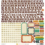 Crate Paper - Farmhouse Collection - Cardstock Stickers - Alphabet and Labels