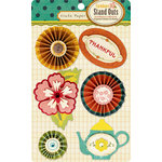 American Crafts - Crate Paper - Farmhouse Collection - 3 Dimensional Stickers - Stand Outs