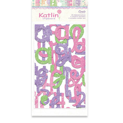 Crate Paper - Katlin Collection - Chipboard Alphabet and Numbers