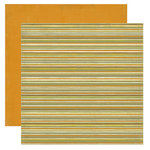 Crate Paper - Lemon Grass Collection - 12 x 12 Double Sided Textured Paper - Straw, CLEARANCE