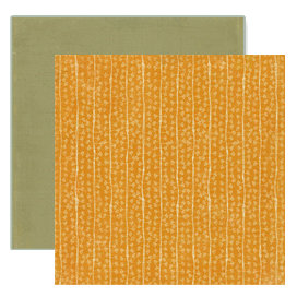 Crate Paper - Lemon Grass Collection - 12 x 12 Double Sided Textured Paper - Tangerine, CLEARANCE
