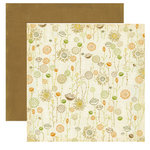 Crate Paper - Lemon Grass Collection - 12 x 12 Double Sided Textured Paper - Poppy Seed