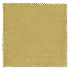 Crate Paper - Lemon Grass Collection - 12 x 12 Die Cut Paper - Brown Sugar