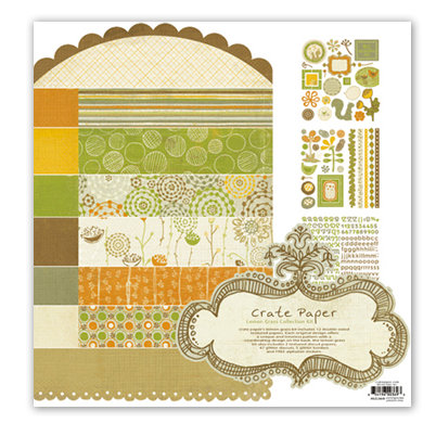 Crate Paper - Lemon Grass Collection Kit, CLEARANCE