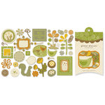 Crate Paper - Lemon Grass Collection - Glitter Die Cuts, CLEARANCE
