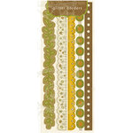 Crate Paper - Lemon Grass Collection - Glitter Borders, CLEARANCE