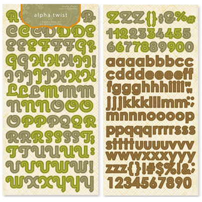 Crate Paper - Lemon Grass Collection - Alphabet Stickers - Alpha Twist, CLEARANCE