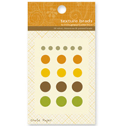 Crate Paper - Lemon Grass Collection - Texture Brads, CLEARANCE