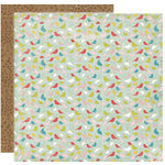 Crate Paper - Lillian Collection - 12 x 12 Double Sided Textured Paper - Gathering, CLEARANCE