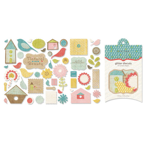 Crate Paper - Lillian Collection - Glitter Die Cuts, CLEARANCE