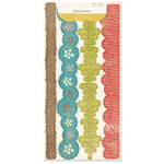 Crate Paper - Lillian Collection - Glitter Borders, CLEARANCE
