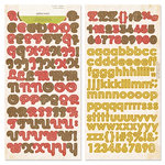 Crate Paper - Lillian Collection - Alphabet Stickers - Alpha Twist
