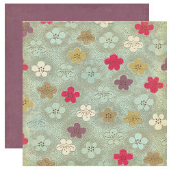 Crate Paper - Mia Collection - 12 x 12 Double Sided Textured Paper - Water Lily, CLEARANCE