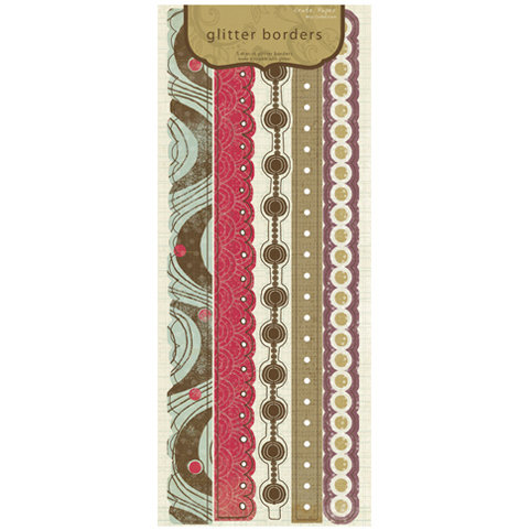 Crate Paper - Mia Collection - Glitter Borders, CLEARANCE