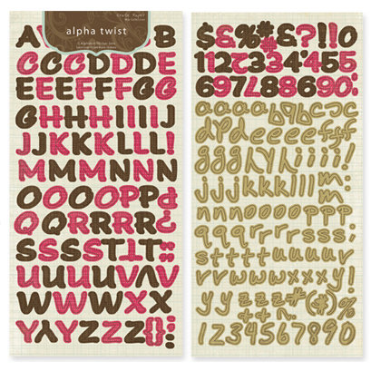 Crate Paper - Mia Collection - Alphabet Stickers - Alpha Twist, CLEARANCE