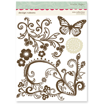 Crate Paper - Mia Collection - Design Rub Ons