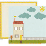 Crate Paper - Neighborhood Collection - 12 x 12 Double Sided Paper - Home
