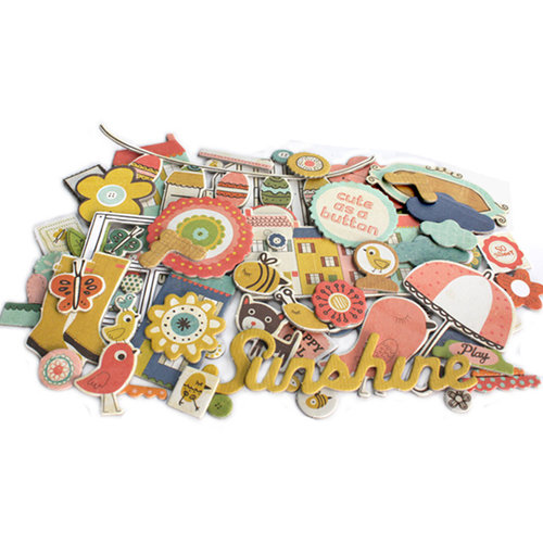 Crate Paper - Neighborhood Collection - Chipboard Stickers - Accents
