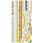 Crate Paper - Neighborhood Collection - Cardstock Stickers - Borders