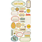Crate Paper - Neighborhood Collection - Cardstock Stickers - Phrase