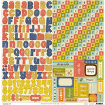 Crate Paper - Neighborhood Collection - Cardstock Stickers - Alphabet and Labels