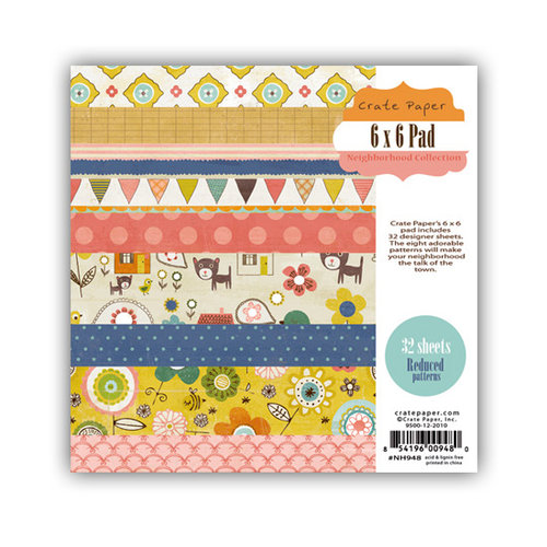Crate Paper - Neighborhood Collection - 6 x 6 Paper Pad