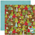 Crate Paper - North Pole Collection - Christmas - 12 x 12 Double Sided Paper - Pine, CLEARANCE