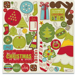 Crate Paper - North Pole Collection - Christmas - Chipboard Stickers - Accents, CLEARANCE