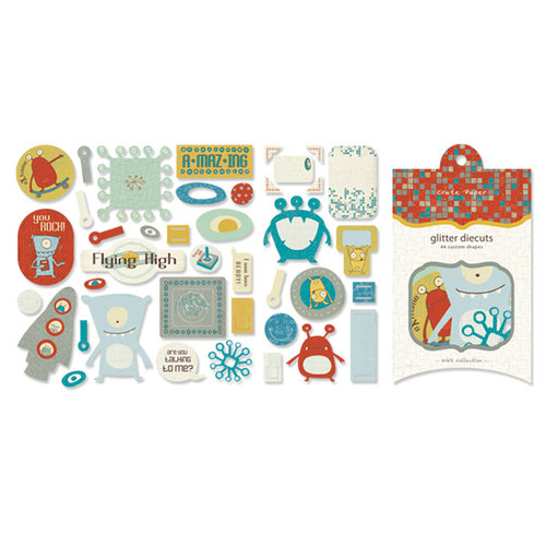 Crate Paper - Orbit Collection - Glitter Die Cuts