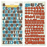 Crate Paper - Orbit Collection - Alphabet Stickers - Alpha Twist, CLEARANCE