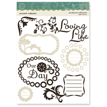 Crate Paper - Prudence Collection - Accent Rub Ons, CLEARANCE