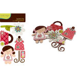 Crate Paper - Paper Doll Collection - Sparkle Chipboard Stickers with Glitter and Gem Accents, BRAND NEW