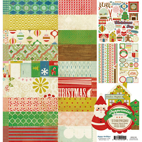 Crate Paper - Peppermint Collection Kits - Christmas