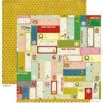 Crate Paper - Peppermint Collection - Christmas - 12 x 12 Double Sided Paper - Present